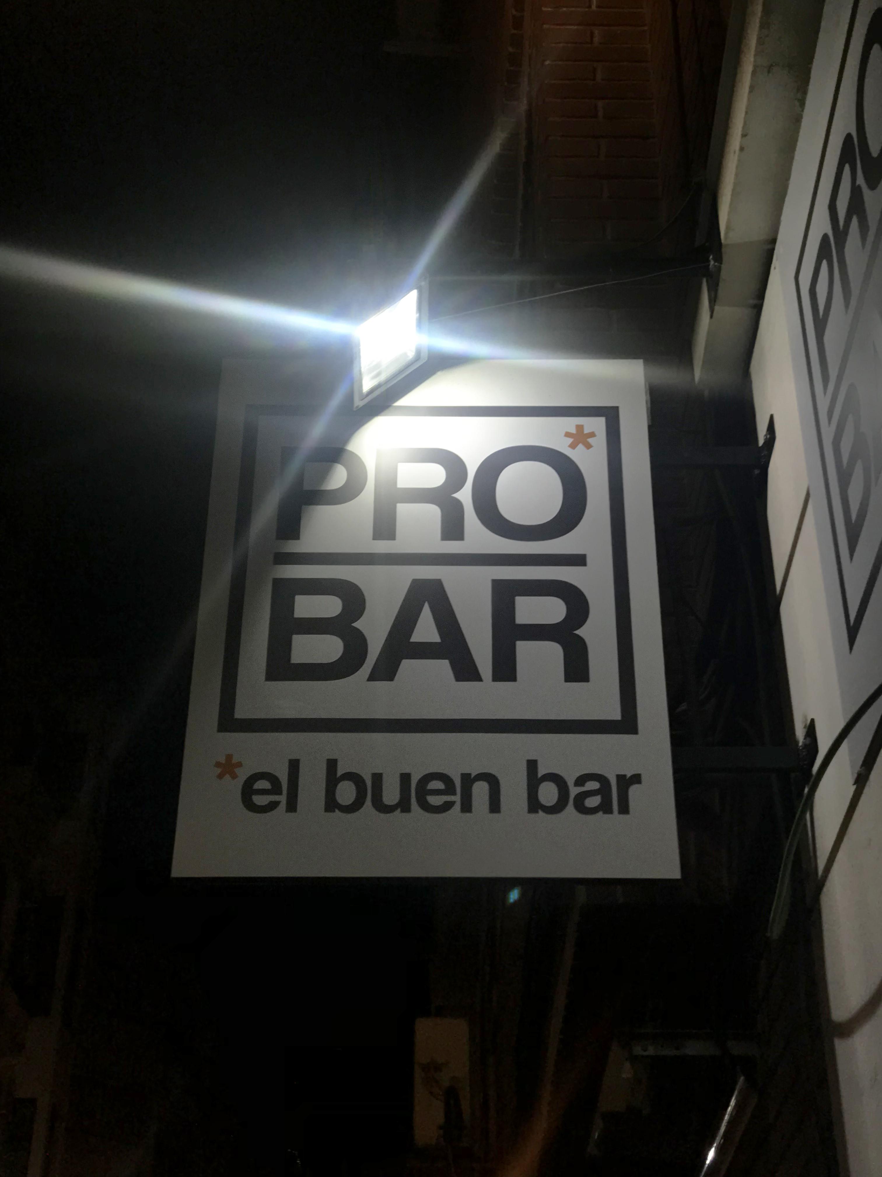 Probar – El buen bar en la calle bazán